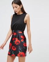 AX Paris 2 In 1 Floral Print Dress