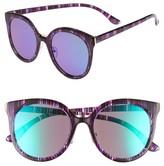 BP Women's 60Mm Mirror Lens Round Sunglasses - Multi