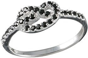 Canyon R4191 Motif Ring - 925 Sterling Silver with Cubic Zirconia Silver