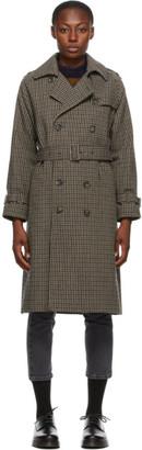 A.P.C. Beige Check Greta Coat