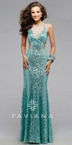Faviana Illusion Glamour Cut-Out Prom Dress