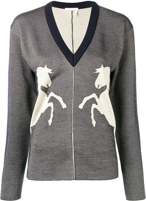 Chloé Horse Embroidered Sweater