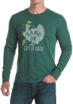 Life is Good Game On Turkey Crusher T-Shirt - Crew Neck, Long Sleeve (For Men)