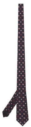 Gucci GG Apple-jacquard Silk-twill Tie - Dark Blue