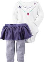 Carter's Necklace Bodysuit and Pants Set - Baby Girls newborn-24m