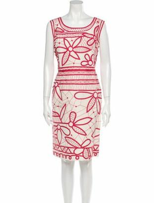 Oscar de la Renta Printed Knee-Length Dress