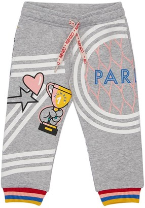 Kenzo Kids Printed Cotton Interlock Sweatpants