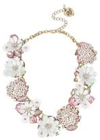 Betsey Johnson Floral Faceted Stone Necklace