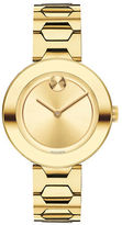 Movado Analog Bold Yellow Ionic Goldplated Steel Watch