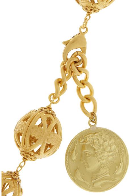Dolce & Gabbana Gold-tone coin necklace