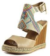 Nanette Lepore France Open Toe Canvas Wedge Sandal.