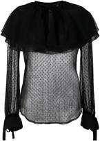 Christian Pellizzari semi-sheer ruffled blouse