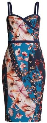 Black Halo Daria Floral Sweetheart Sheath Dress