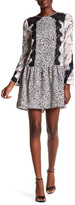 BCBGMAXAZRIA Bryanne Lace Inset Floral Shift Dress