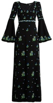 Andrew Gn Floral-embellished crepe gown