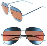 Christian Dior Women's Split 59Mm Aviator Sunglasses - Blue/ Gray Ivory