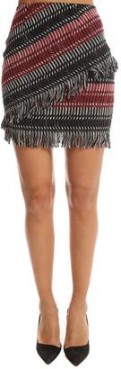 Nicholas Fringe Tweed Skirt