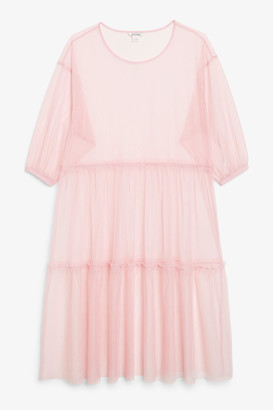 Monki Tulle midi dress