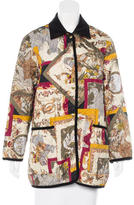 Salvatore Ferragamo Quilted Floral Print Jacket