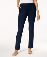 Karen Scott Petite Denim Pull-On Pants, Created for Macy's