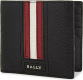 Bally Trasai striped textured leather wallet