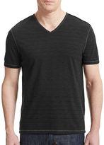 John Varvatos Slub Knit V-Neck T-Shirt