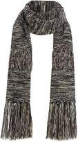 Pieces Layered tassel scarf