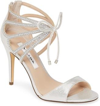 Nina Coree Crystal Embellished Cutout Sandal