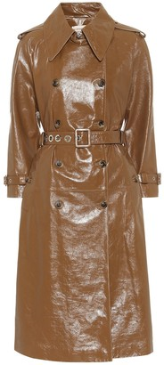 ALEXACHUNG Leather trench coat