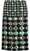 Emilio Pucci Pleated Printed Crepe Skirt