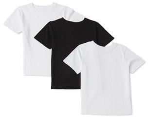 Garanimals Toddler Boy Solid Crew Neck T-shirts, 3-Pack