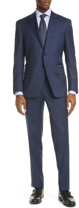 Canali Siena Classic Fit Solid Wool Suit