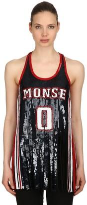 Monse Sequined Silk Tank Top