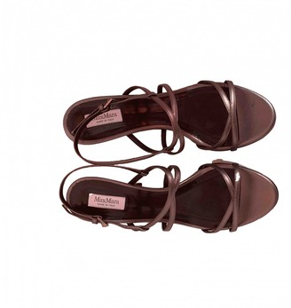 Max Mara Grey Leather Sandals