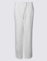M&S Collection Pure Linen Wide Leg Trousers