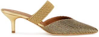 Malone Souliers Maisie 45 gold leather and Lurex mules
