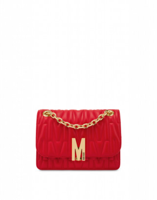 Moschino M Quilted Shoulder Bag Woman Red Size U It - (one Size Us)