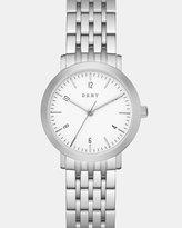 DKNY Minetta Silver-Tone Analogue Watch