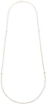 Mizuki 14k Gold Long Wrapped Necklace w/ Akoya Pearls