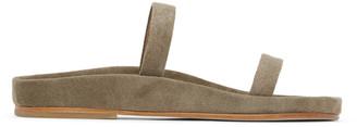 LAUREN MANOOGIAN Beige Suede Line Sandals