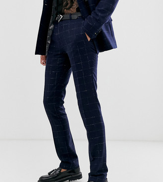 Twisted Tailor super skinny suit pants in check