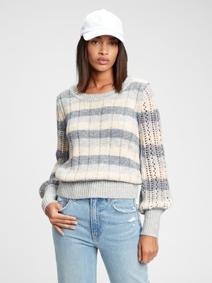 Gap Pointelle Crewneck Sweater