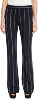 Derek Lam 10 Crosby Striped Flare Trousers, Midnight/White