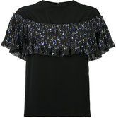 Le Ciel Bleu floral print pleated top