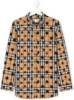 Burberry Teen check polka-dot shirt