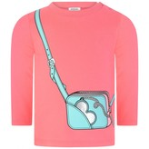 Moschino Girls Fuchsia Bag Print Jersey Top