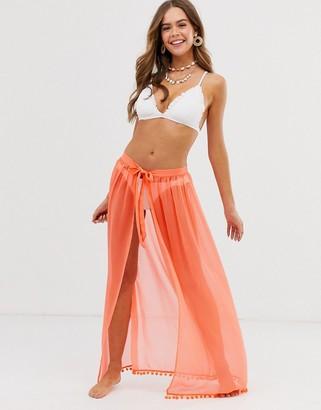 Brave Soul neon orange beach skirt