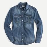 J.Crew Western chambray shirt in vintage indigo