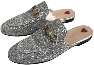 Gucci Princetown Silver Glitter Flats