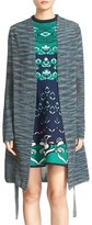 M Missoni Spaced Dye Shimmer Knit Long Cardigan